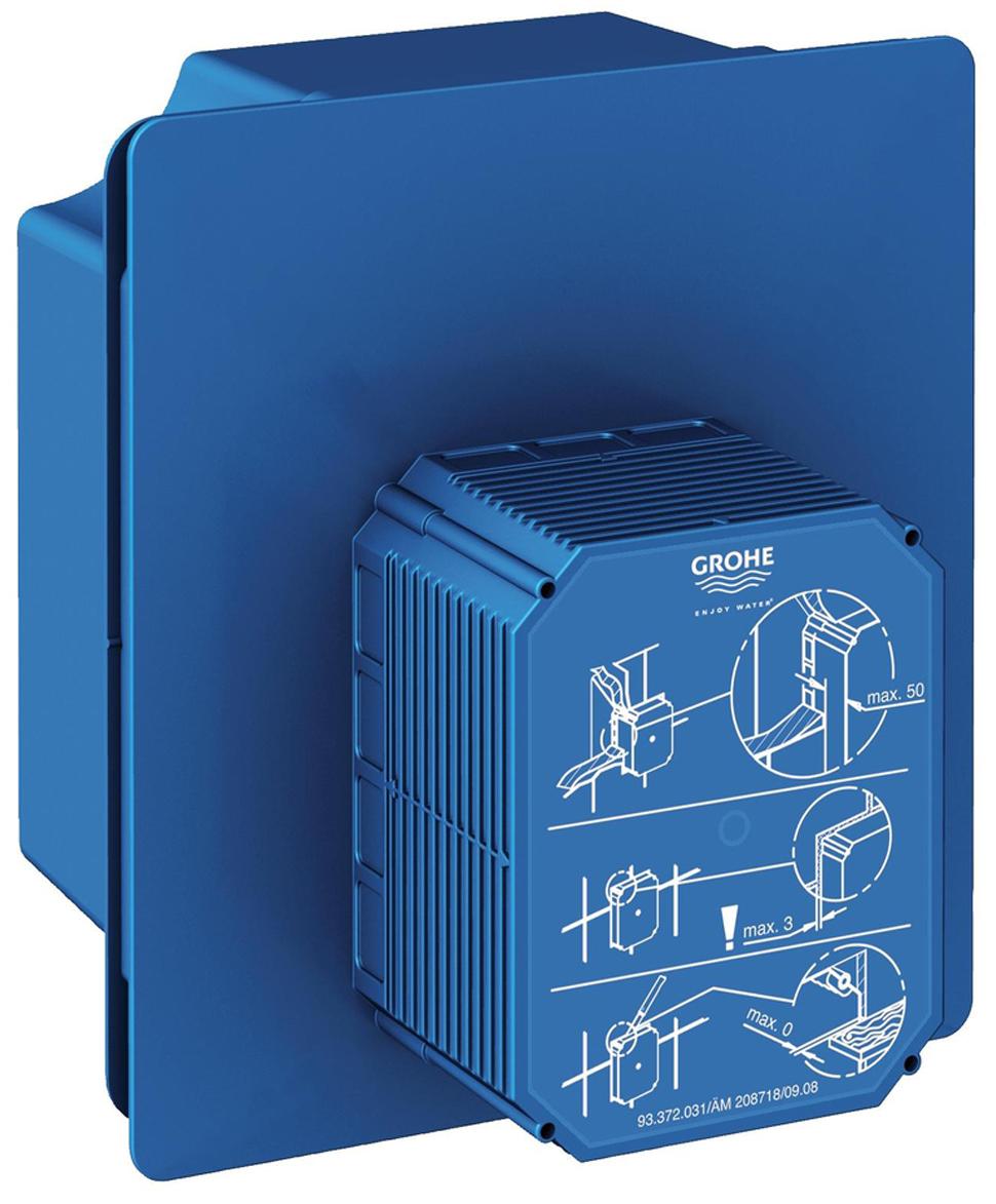 """Комплект """"чернового"""" монтажа.Для механического смыва или установки Tectron инфракрасной электроники на 6 V или 230 V.В комплекте с запорным вентелем.Минимальное давление 0,5 бар.Оперативное давление максимум 10 бар.Промывная трубка, фунциональный блок смонтирован и проверен на заводе, подводы воды на 1/2 с внешней резьбой, соединительная коробка для сети питания, монтажный короб с уплотнителями, точки крепления для сухого монтажа и обмуровки, укороченная ревизионная шахта с защитным кожухом."""