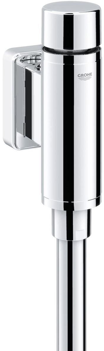"""Подключение 1/2"""".Из латуни.Со встроенным запорным клапаном.GROHE StarLight хромированная поверхность.С клавишей управления и отводным штуцером.Регулятор потока смыва, Регулируемый объем смыва 1.0 - 4.0 л.С надвижной розеткой.Смывная трубка 200 мм.Внутреннее соединение Минимальное давление 0,5 бар.Максимальное давление 10 бар."""