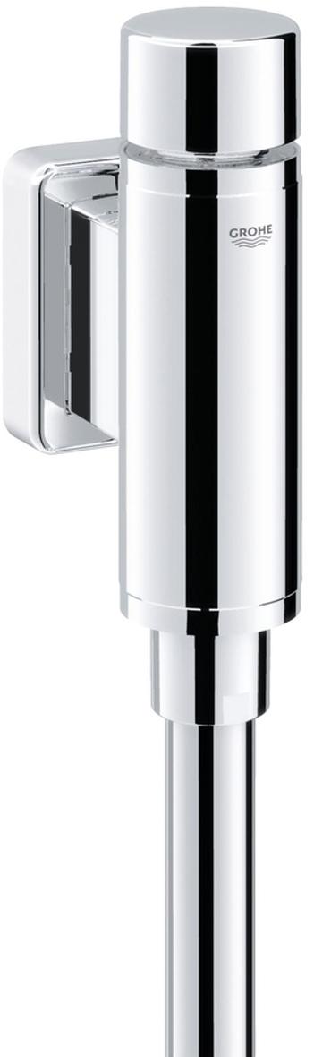Смывное устройство для писсуара GROHE Rondo. 3734600037346000Подключение 1/2.Из латуни.Без предохранителя.GROHE StarLight хромированная поверхность.С клавишей управления и отводным штуцером.Регулируемый объем смыва 1.0 - 4.0 л.С надвижной розеткой.Смывная трубка 200 мм.Внутреннее соединение.Минимальное давление 0,5 бар.Максимальное давление 10 бар.