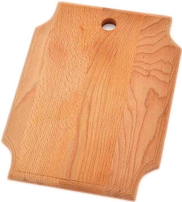 """Доска разделочная """"Хозяюшка"""" - это удобный и практичный кухонный аксессуар, который станет идеальным дополнением вашей современной кухни. Доска отличается тем, что: - выполнена из бука - высокой износостойкостью, - красивой фактурой дерева, - влагоустойчивостью. Уход за разделочными досками из бука несложен - чтобы они не впитывали неприятные запахи, после использования их необходимо помыть в горячей воде, а затем тщательно вытереть. Можно хранить в подвешенном состоянии."""