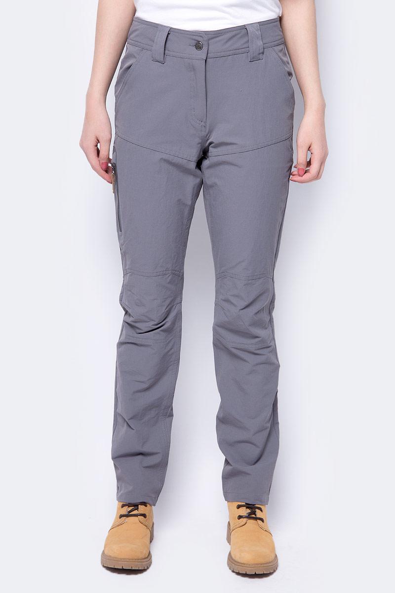 Брюки женские Icepeak, цвет: серый. 954057659IV_259. Размер 42 (48)954057659IV_259Женские брюки от Icepeak, выполненные из высококачественного материала, в поясе застегиваются на пуговицу и ширинку на молнии, имеются шлевки для ремня. Модель прямого кроя.