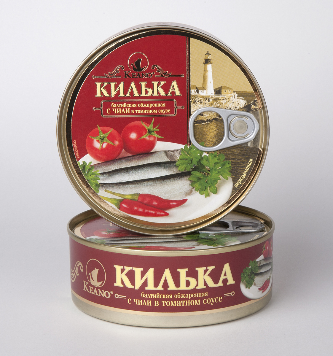 Keano Килька в томате с чили, 240 г ростагроэкспорт желе апельсин 125 г