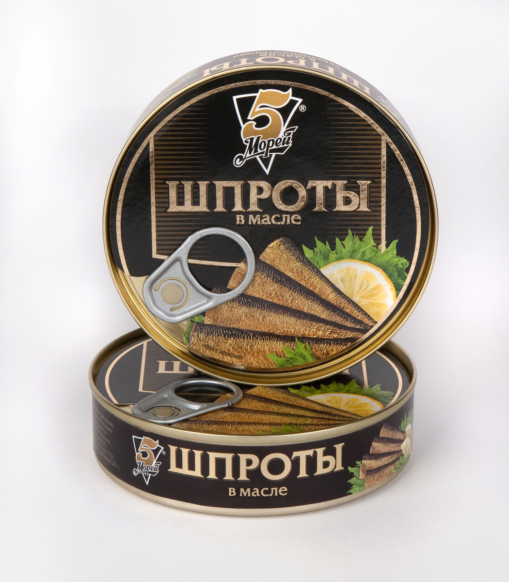 5 Морей Шпроты в масле, 160 г loacker vanille вафли 225 г