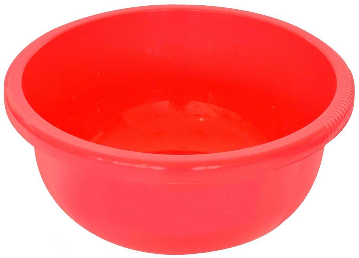 Таз Plast Team, цвет: коралловый, 9,5 л
