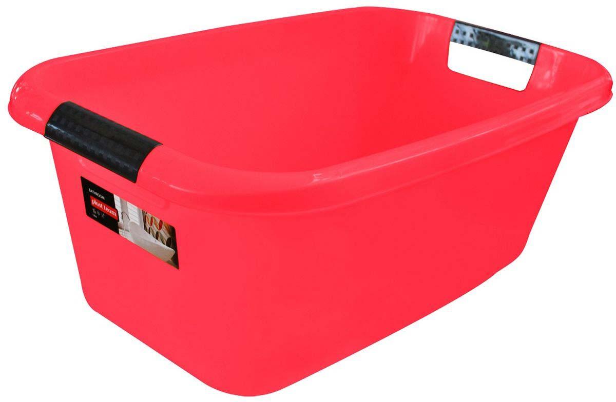 Таз Plast Team Lica, с ручками, прямоугольный, цвет: коралловый, 20 л механизм сливной alca plast a08