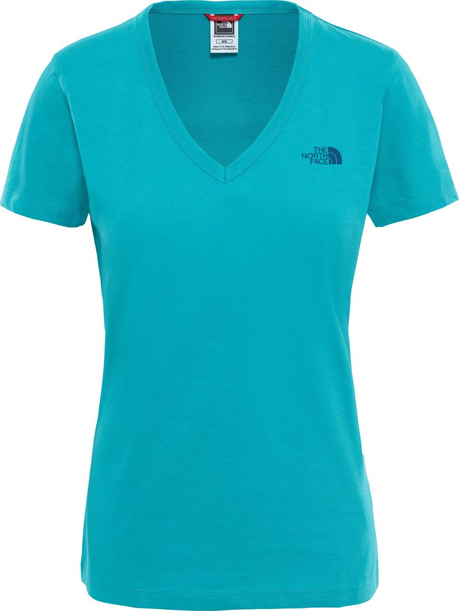 Футболка женская The North Face W S/S Simple Dom Tee, цвет: бирюзовый. T0A3H6ZCV. Размер XS (40) the north face ski tuke iv os t0a6w6
