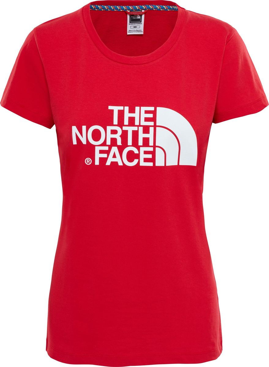Футболка женская The North Face W S/S Easy Tee, цвет: красный. T0C256682. Размер XS (40) футболка the north face the north face youth short sleeve easy tee детская