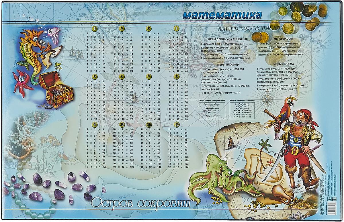 ДПС Настольное покрытие с математическими правилами 38 х 59 см -  Аксессуары для труда