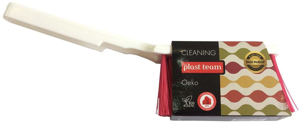 Щетка-сметка Plast Team, цвет: малиновый