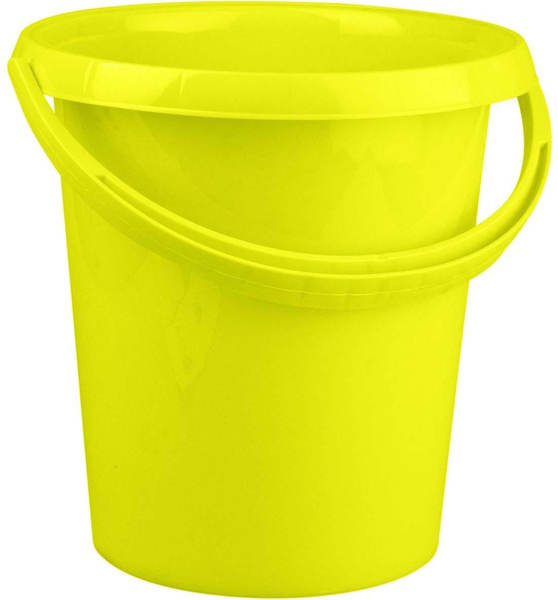Ведро Plast Team Ampari, цвет: лаймовый, 12 л