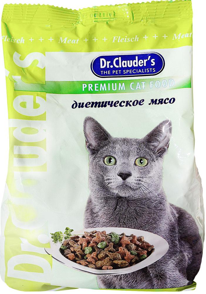 """Корм сухой """"Dr. Clauder's"""" для кошек, диетическое мясо, 0,4 кг"""