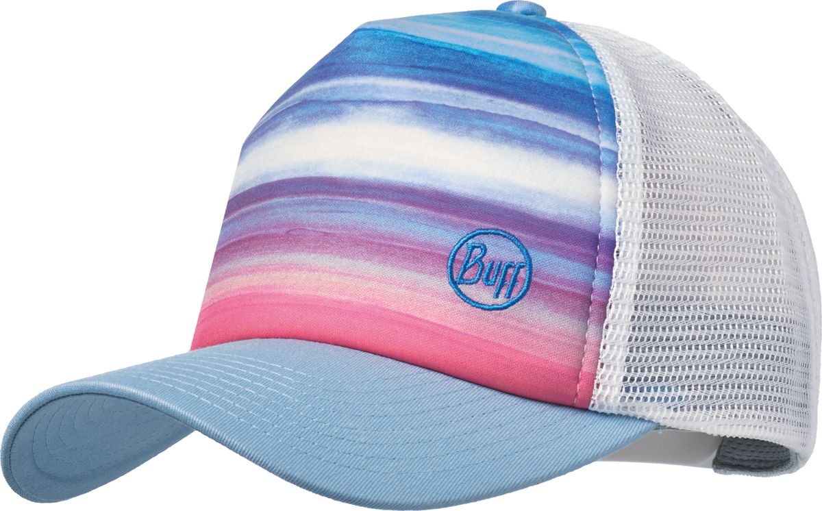 Купить Кепка Buff Trucker Cap Sunset Multi, цвет: голубой, белый. 117247.555.10.00. Размер 58