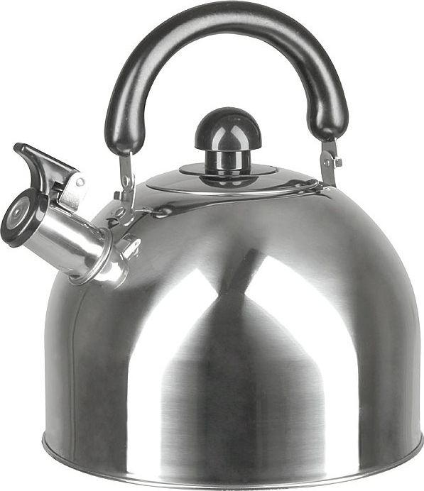 Чайник Pomi d'Oro, со свистком, цвет: серебристый, 4 л