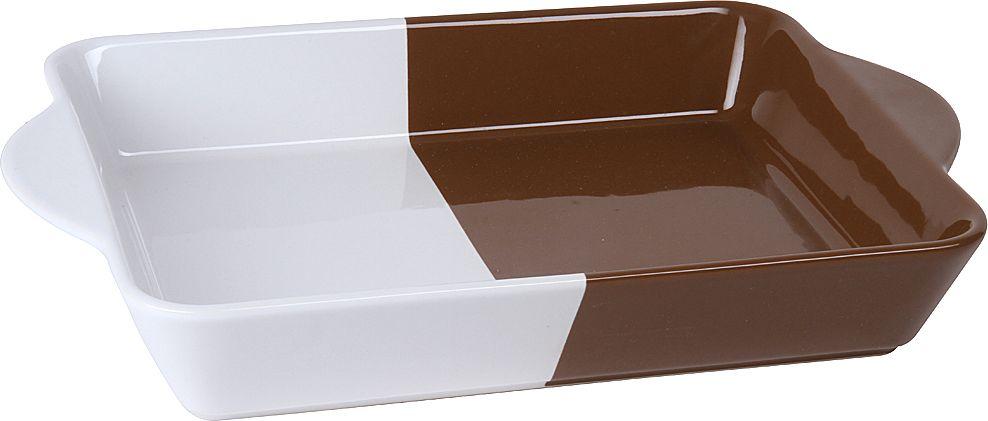 Форма для запекания Pomi d'Oro, прямоугольная, с керамическим покрытием, цвет: белый, шоколадный, 2,1 л часы pomi doro t5012 k
