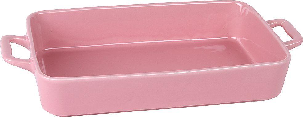 """Форма для запекания """"Pomi d'Oro"""", прямоугольная, с керамическим покрытием, цвет: розовый, 2,3 л"""