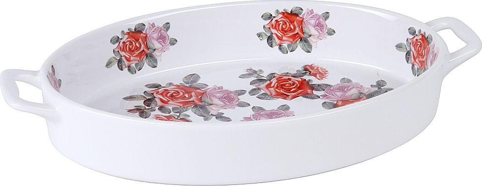 Форма для запекания Pomi d'Oro, овальная, с керамическим покрытием, цвет: белый, 2,5 л форма для запекания pomi d'oro прямоугольная с керамическим покрытием цвет розовый 2 3 л