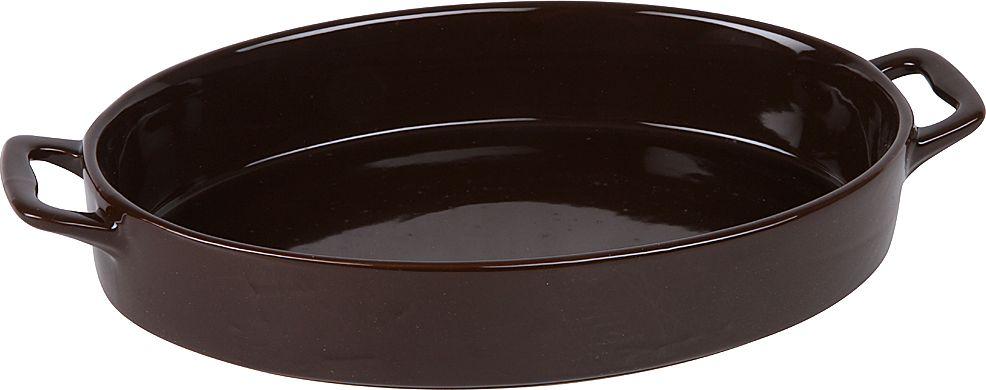 Форма для запекания Pomi d'Oro, овальная, с керамическим покрытием, цвет: шоколадный, 2,5 л форма для запекания pomi d'oro прямоугольная с керамическим покрытием цвет розовый 2 3 л