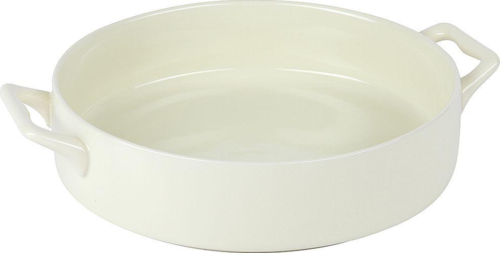 Форма для запекания Pomi d'Oro, круглая, с керамическим покрытием, цвет: белый, 2 л форма для запекания pomi d'oro прямоугольная с керамическим покрытием цвет розовый 2 3 л