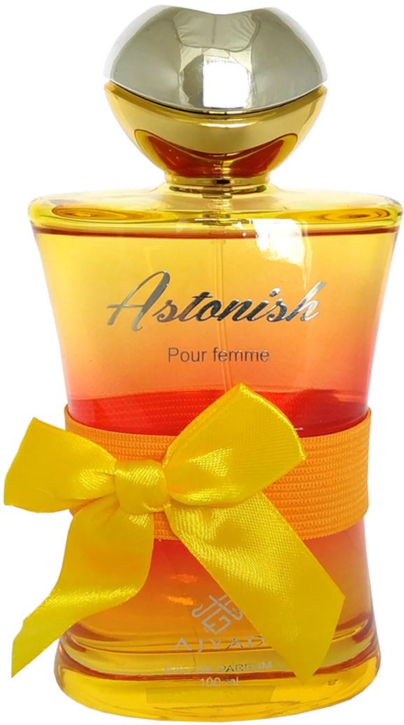 Ajyad Astonish Парфюмерная вода, 100 млОА2523ASTONISHТуалетные духи 100мл спрей. Принадлежит к семейству цветочные; Основные ноты: нероли, абрикос, гардения, иланг-иланг, амбретта, сандал.