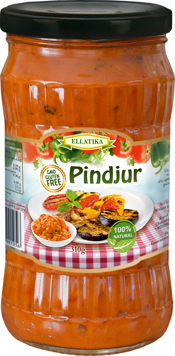 Ellatika Пинджур, 310 г фэг томаты соленые зеленые 1000 г