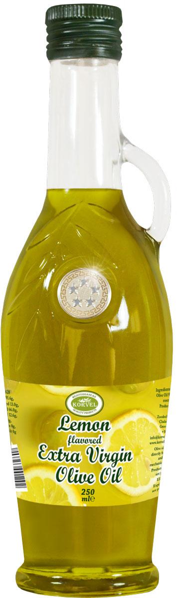 Korvel Оливковое масло extra virgin с экстрактом лимона, 250 мл