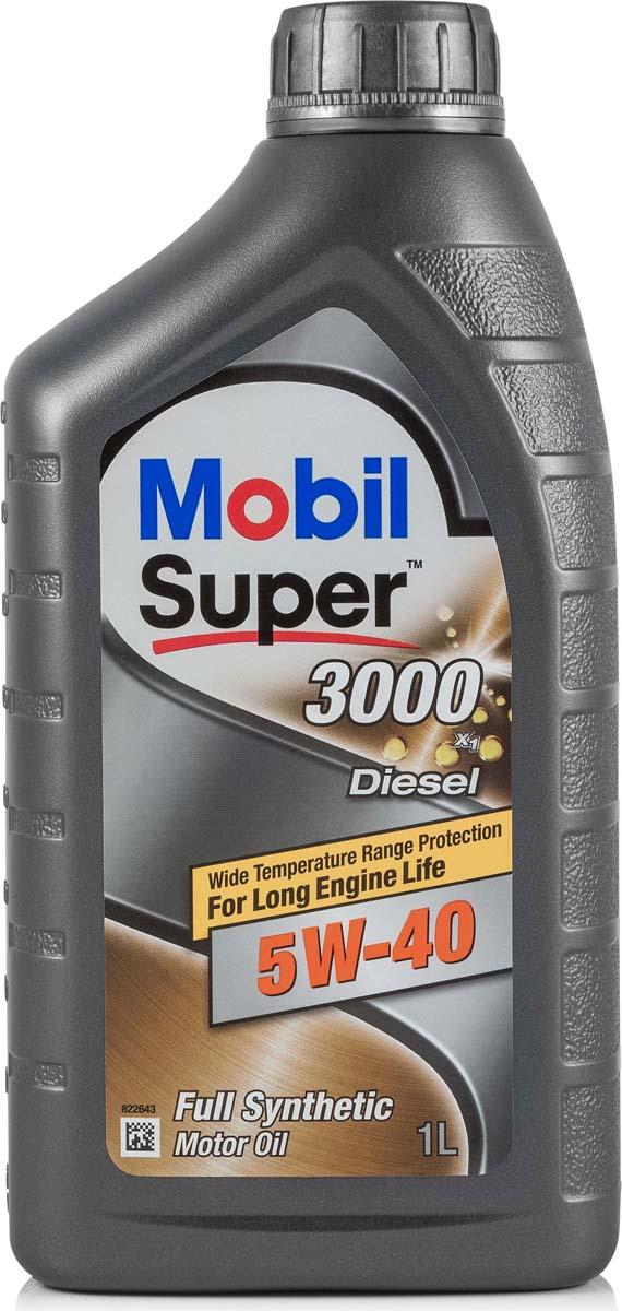 Купить Масло моторное Mobil Super 3000 х1 Diesel, синтетическое, 5W-40, 1 л