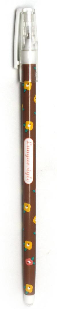 Минималистичная ручка в весеннем стиле с тонким стержнем и удобной формой. Чернила черные.