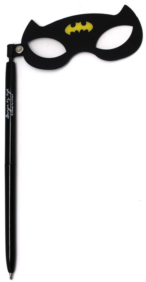 Порой наличие ручки под рукой может спасти весь мир или развеселить вас. Особенно если это забавная гелевая ручка с супергеройской маской. Чернила черные.