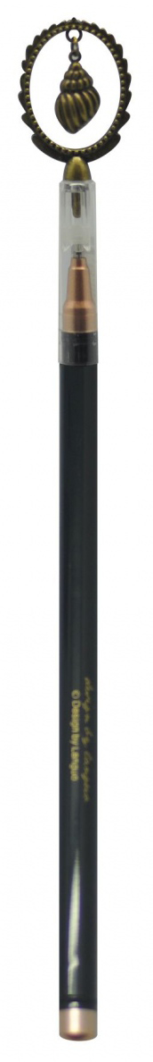 Минималистичная ручка в морской тематике с тонким стержнем и удобной формой. Чернила черные.