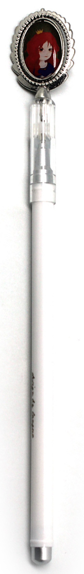 Минималистичная ручка с милой девочкой, имеет тонкий стержнень и удобную форму. Чернила черные.
