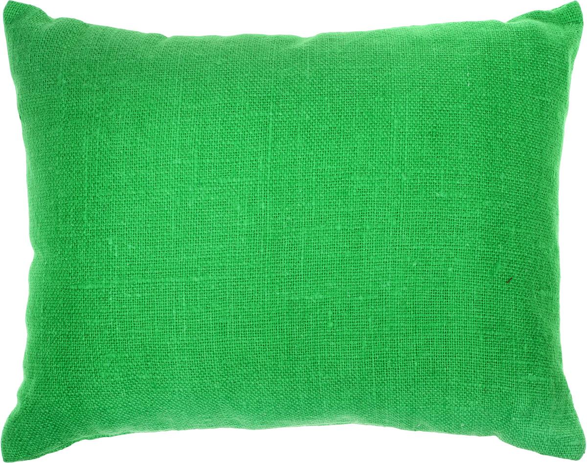 Подушка очень удобна как для сна, поскольку имеет класическую форму, так и для выполнения сидячих поз йоги. Наволочка съемная, изготовлена из 100% льна.
