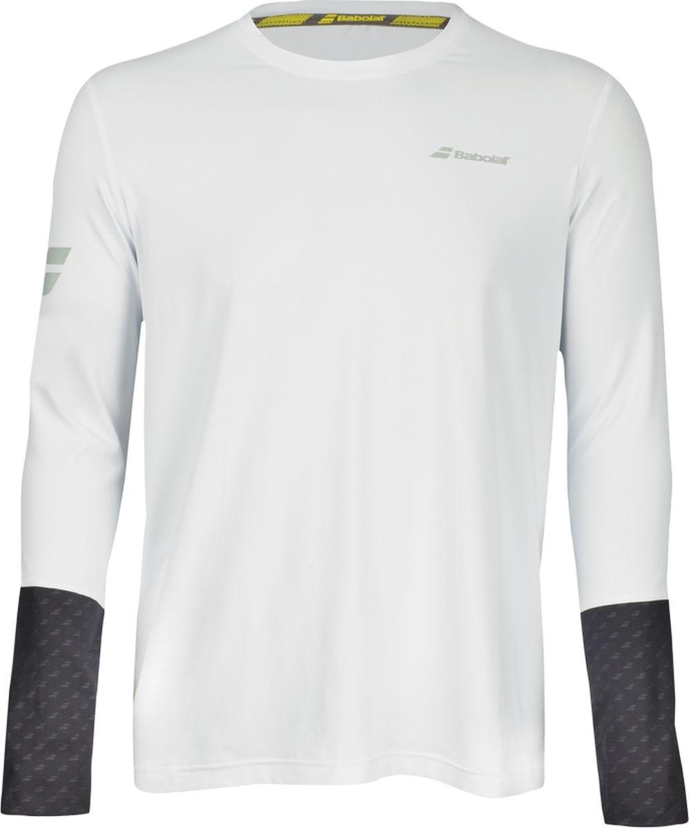 Лонгслив мужской Babolat Core Ls, цвет: белый, темно-серый. 3MS18111-1011. Размер XL (52)3MS18111-1011Лонгслив Core Ls от Babolat выполнен в популярном среди теннисистов стиле. Такая ультралегкая футболка с длинными рукавами - идеальная вещь для любых тренировок (теннис и бег) при прохладной погоде, а также под ярким солнцем, поскольку она также защищает от УФ-излучения (UPF50+). Модель дополнена отражающими полосками на рукавах. Технология быстрого высыхания FiberDry выводит влагу.