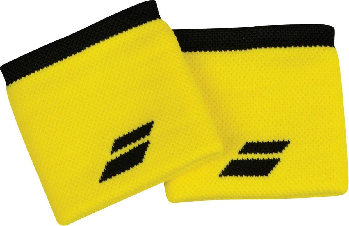 Напульсники Babolat Logo, цвет: желтый, черный. Размер универсальный5US18261-7001Напульсники Babolat Logo будут уместны для занятий разными видами спорта. И новички, и люди, занимающиеся спортом профессионально, по достоинству оценят все его преимущества. Напульсники изготовлены из мягкого материала, приятного телу, а благодаря добавлению эластана обеспечивается плотное прилегание к запястьям, при этом они не сдавливаются. Напульсники защищают от растяжений сухожилия, обеспечивая комфорт.