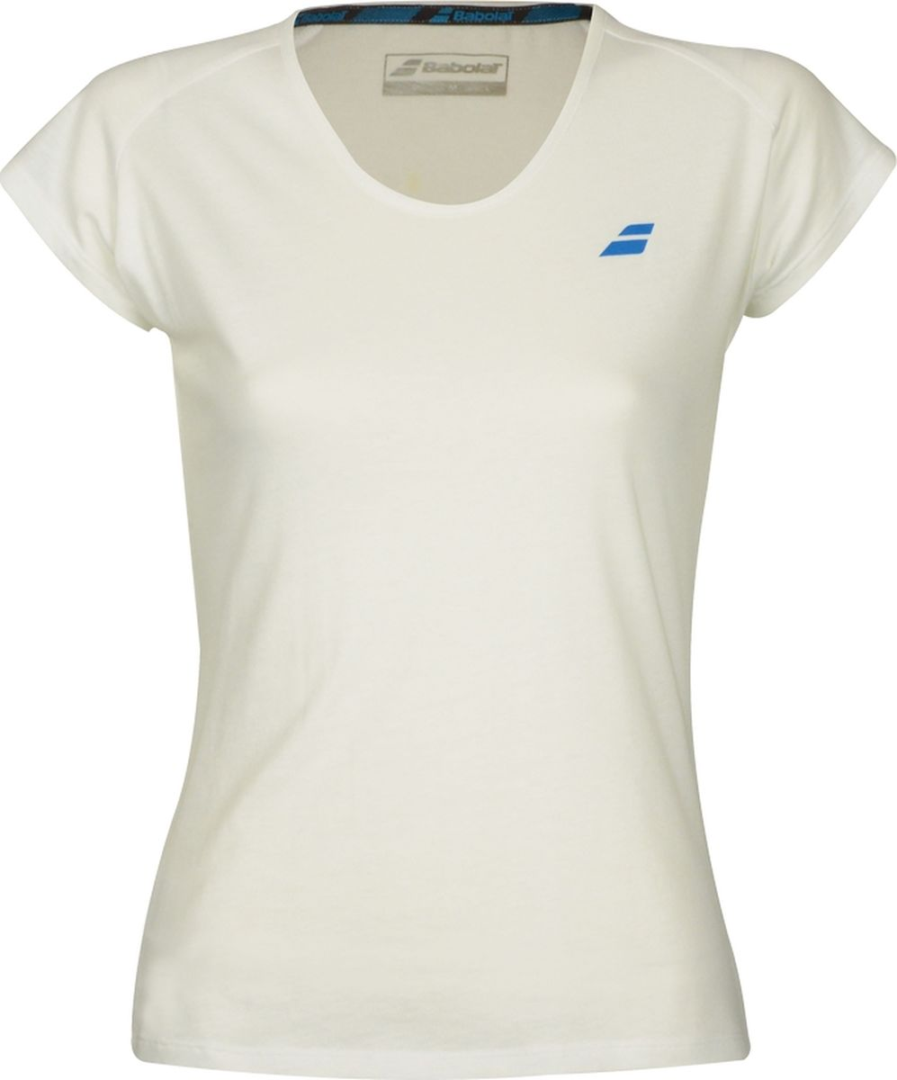 Футболка женская Babolat Core, цвет: белый. 3WS18012-1000. Размер L (50) babolat футболка мужская babolat perf crew neck tee размер 50