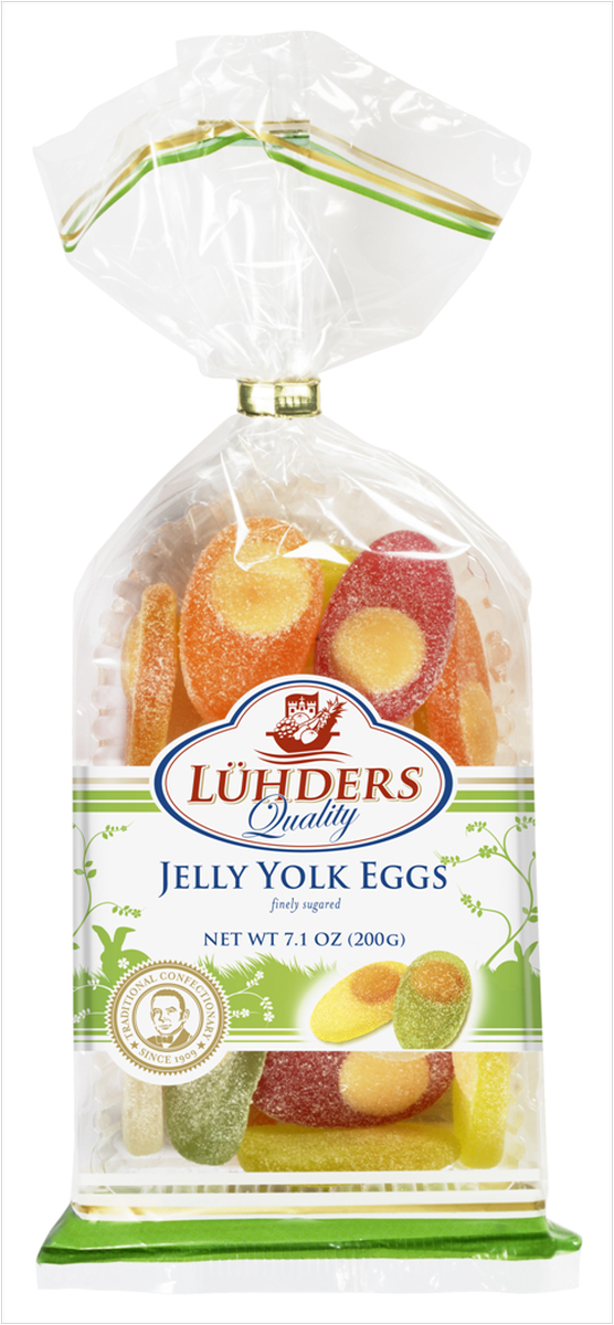 Luhders Яйцо мармелад, 200 г96239Мармелад с содержанием натурального сока 25% в форме яйца.