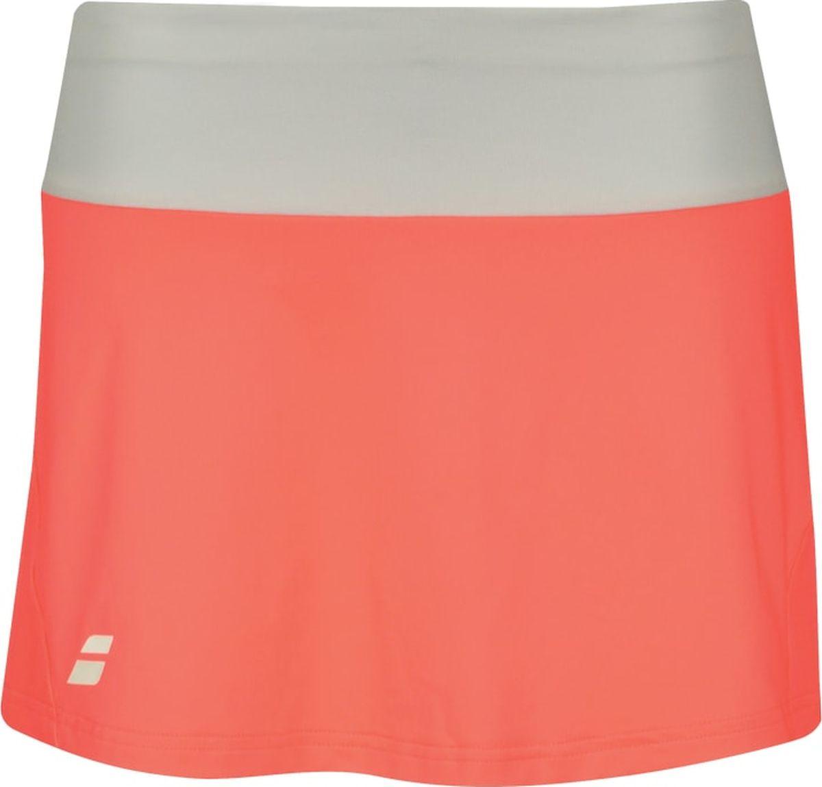 Юбка женская Babolat Core, цвет: оранжевый. 3WS18081-5005. Размер XS (44)3WS18081-5005Ткань с полиэстером Fiber-Dry очень легкая и мягкая на ощупь. За этой тканью легко ухаживать, она позволяет самое интенсивное использование и очень износостойкая как во время тренировок, так и на соревнованиях.