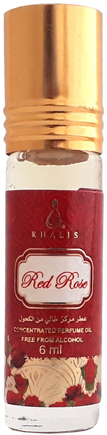 Khalis Rolline Red Rose Духи, 6 мл khalis rose туалетная вода 30 мл