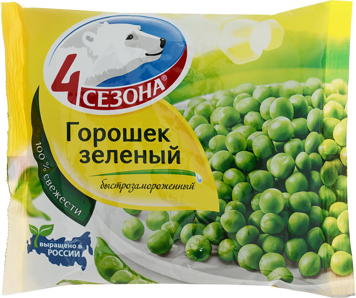 4 Сезона Горошек зеленый, 400 г bonduelle зеленый горошек с морковью в кубиках 400 г