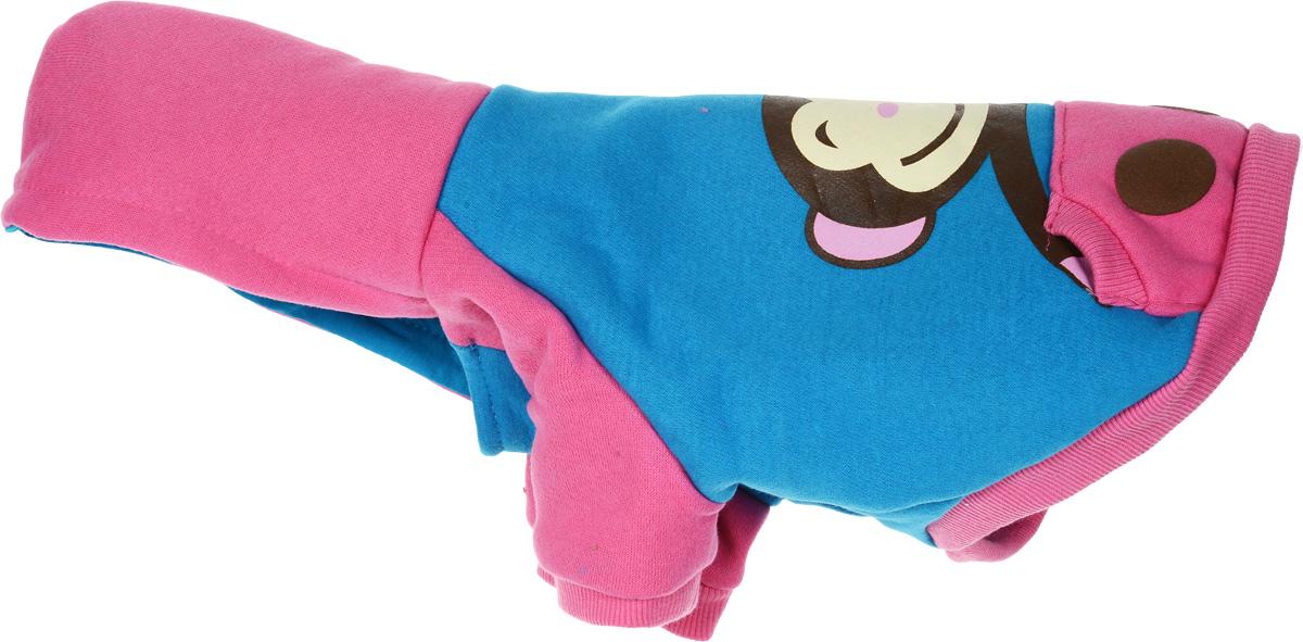 Куртка для собак Dobaz, цвет: голубой, розовый. ДА1121АМ/п. Размер M куртка для собак dobaz утепленная цвет розовый дл1104аххл размер xxl