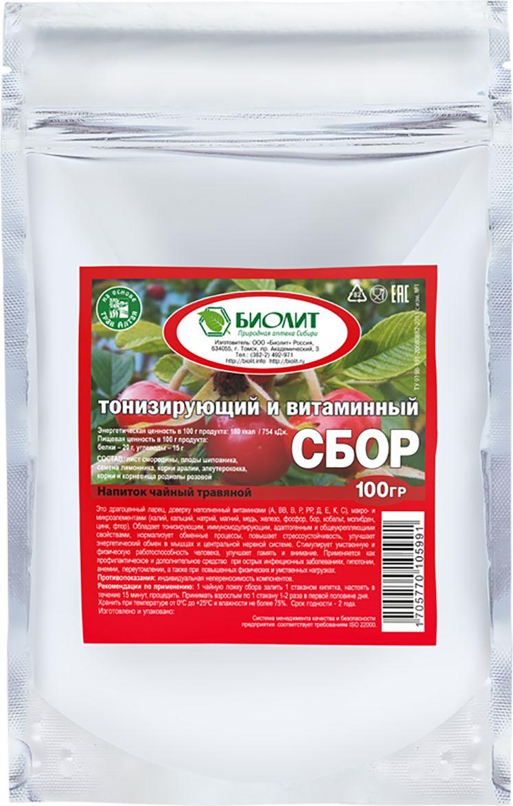 Биолит Сбор витаминный и тонизирующий, 100 г