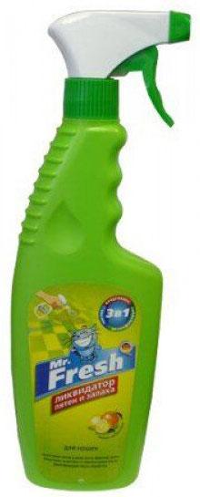 Ликвидатор запаха и пятен Mr.Fresh, 3 в 1, для кошек, спрей, 500 мл спрей ликвидатор запаха и пятен с ковровых покрытий zoo clean универсальный