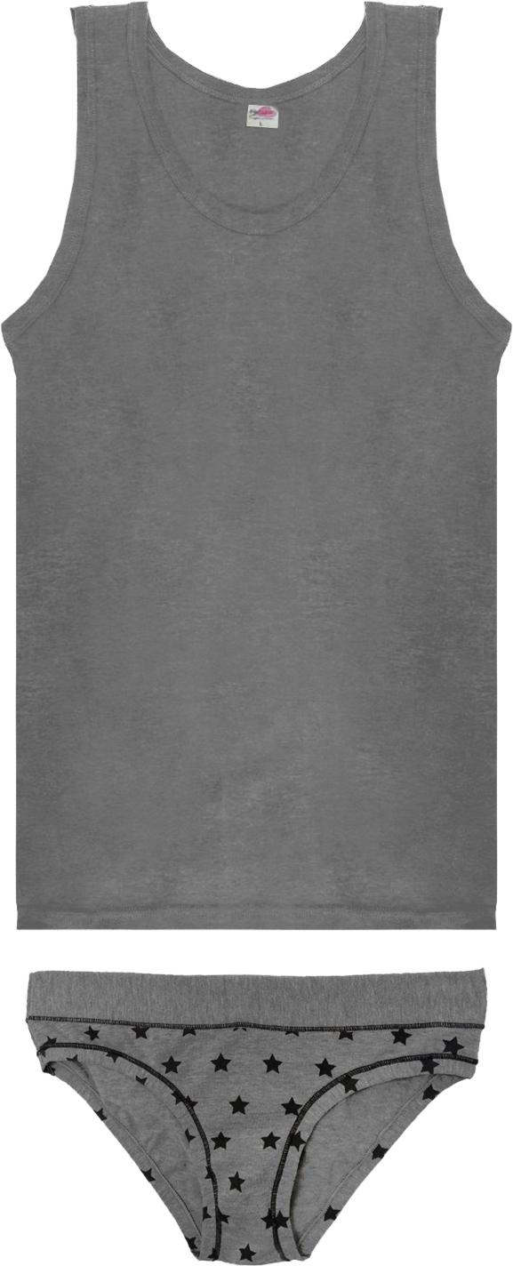 Комплект белья Rossoporpora Coordinato Canotta/Slip Donna, цвет: серый. CD550. Размер L (48) детское белье умка комплект из майки и трусов az 700