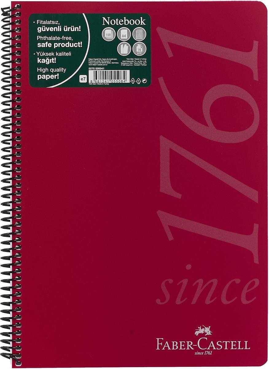 Faber-Castell Блокнот Since 1761 100 листов в клетку цвет красный faber pareo