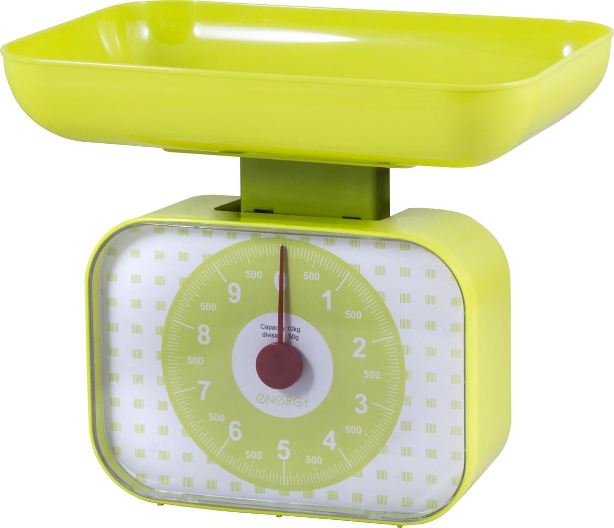 Energy EN-410МК, Olive White кухонные весы159746Максимальная нагрузка: 10 кг Надежный механизм Чаша квадратной формы Простой и быстрый способ проверить вес продуктов и других товаров