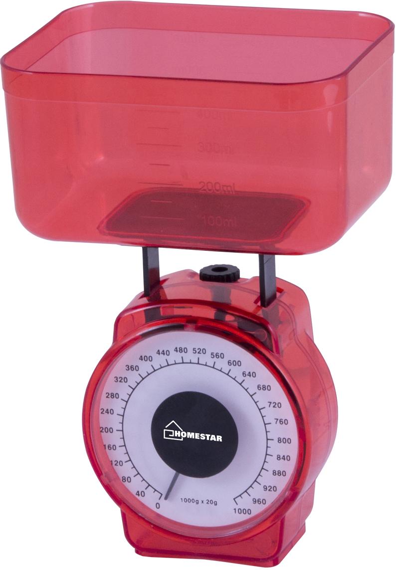 HomeStar HS-3004М, Red кухонные весы