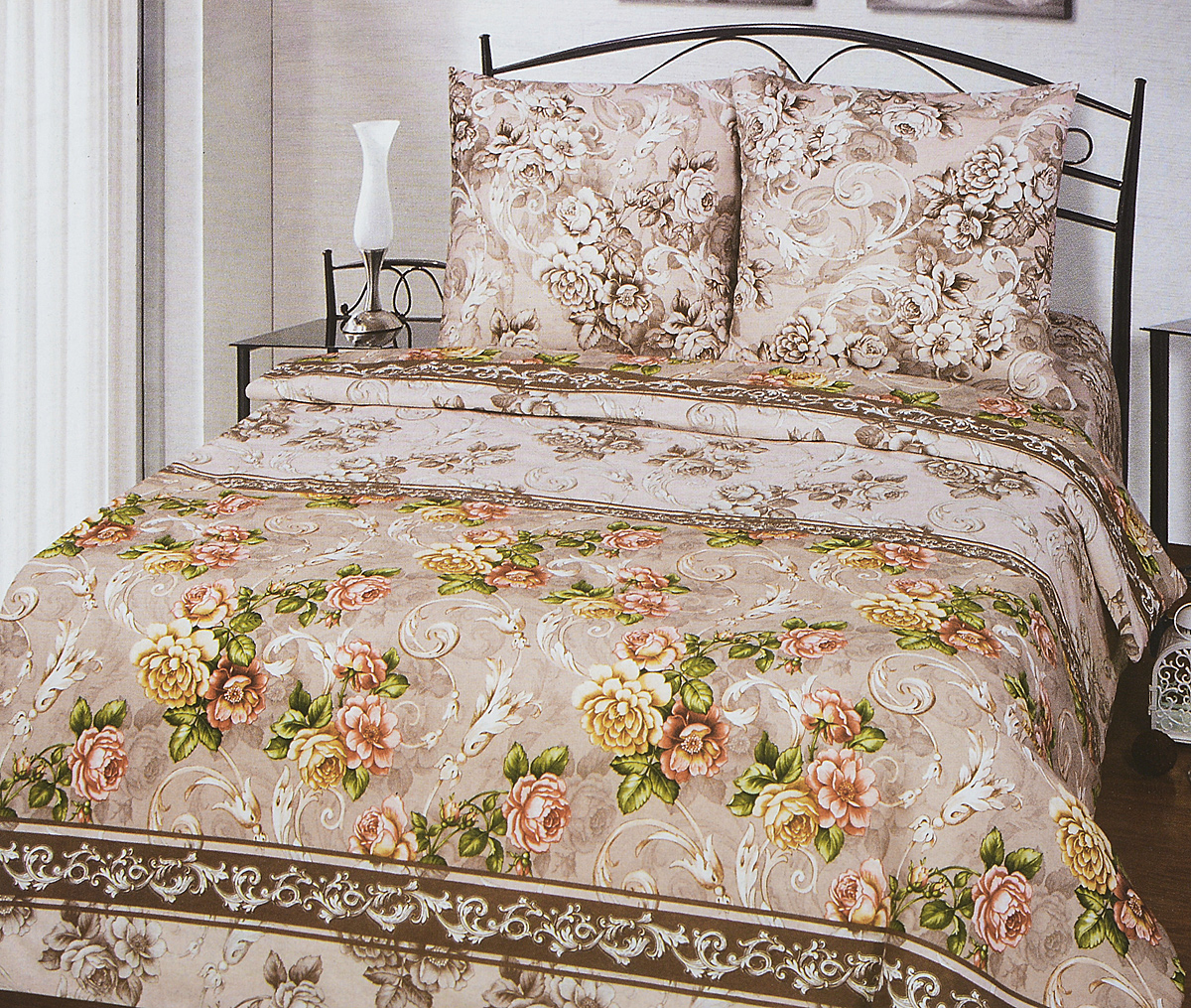 Комплект белья АртПостель Желание, 2-спальный, наволочки 70x70. 509