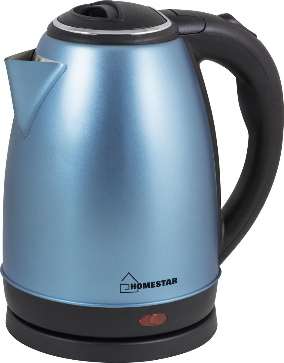 HomeStar HS-1010, Blue электрический чайник3631Электрический чайник HomeStar HS-1010 в стильном металлическом корпусе мощностью 1500 Вт и объемом 1,8литра отвечает всем современным требованиям надежности и безопасности. При его производствеиспользуются только высококачественные и экологически безопасные материалы. О включенном состоянии вамсообщит светоиндикатор. Безопасность обеспечивает блокировка включения без воды. При закипании чайниквыключается автоматически. Устройство будет служить вам долгие годы, наполняя ваш быт комфортом!
