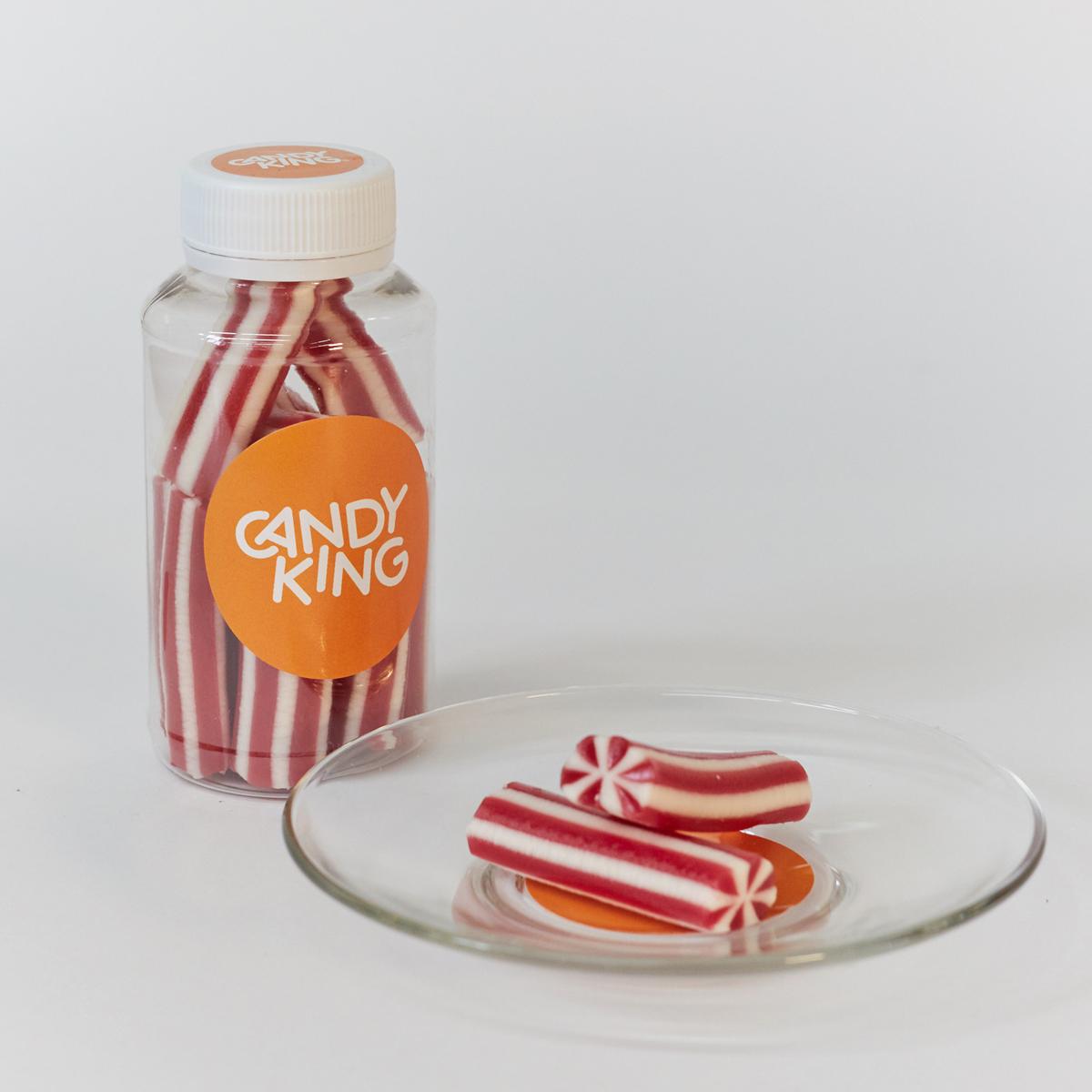 Candy King Клубнично-ванильные палочки Конфета желейная с клубничным вкусом, 200 мл сумка printio радужный енот