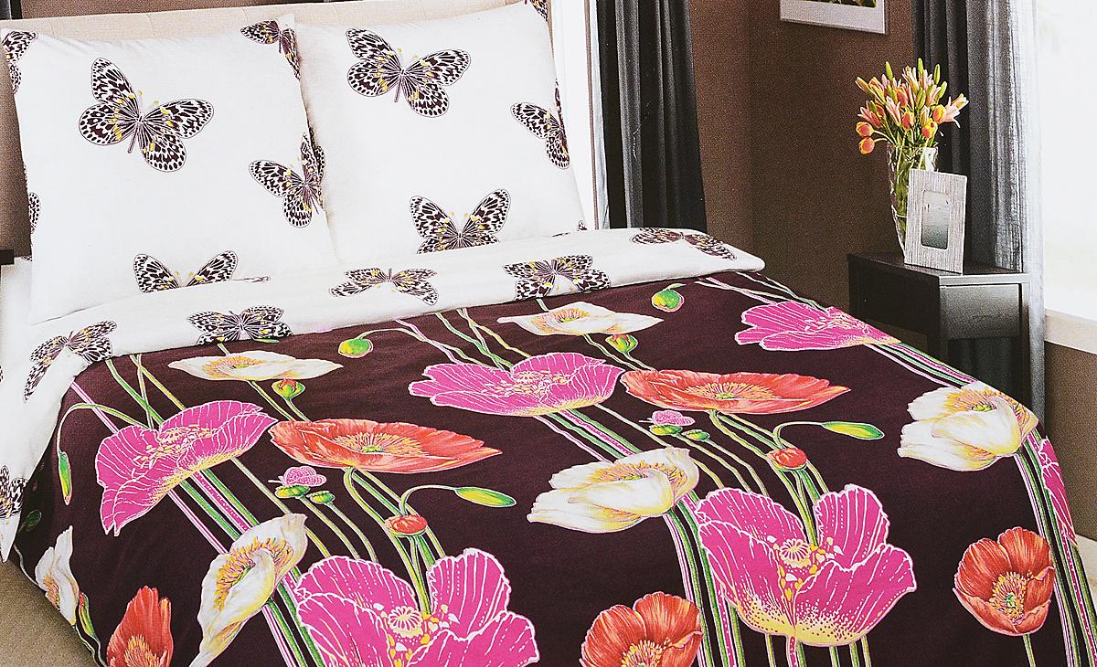 Комплект белья АртПостель Комильфо, 2-спальный, наволочки 70x70. 904904Комплект постельного белья АртПостель Комильфо выполнен из поплина (100% хлопка) высочайшего качества. Поплин - это тонкая и легкая хлопчатобумажная ткань высокой плотности полотняного переплетения, сотканная из пряжи высоких номеров.При изготовлении перкаля используются длинноволокнистые сорта хлопка, что обеспечивает высокие потребительские свойства материала.Несмотря на свою утонченность, перкаль очень практичен - это одна из самых износостойких тканей для постельного белья.Комплект состоит из пододеяльника, простыни и двух наволочек. Постельное белье с ярким дизайном, имеет изысканный внешний вид. Благодаря такому комплекту постельного белья вы сможете создать атмосферу роскоши и романтики в вашей спальне.