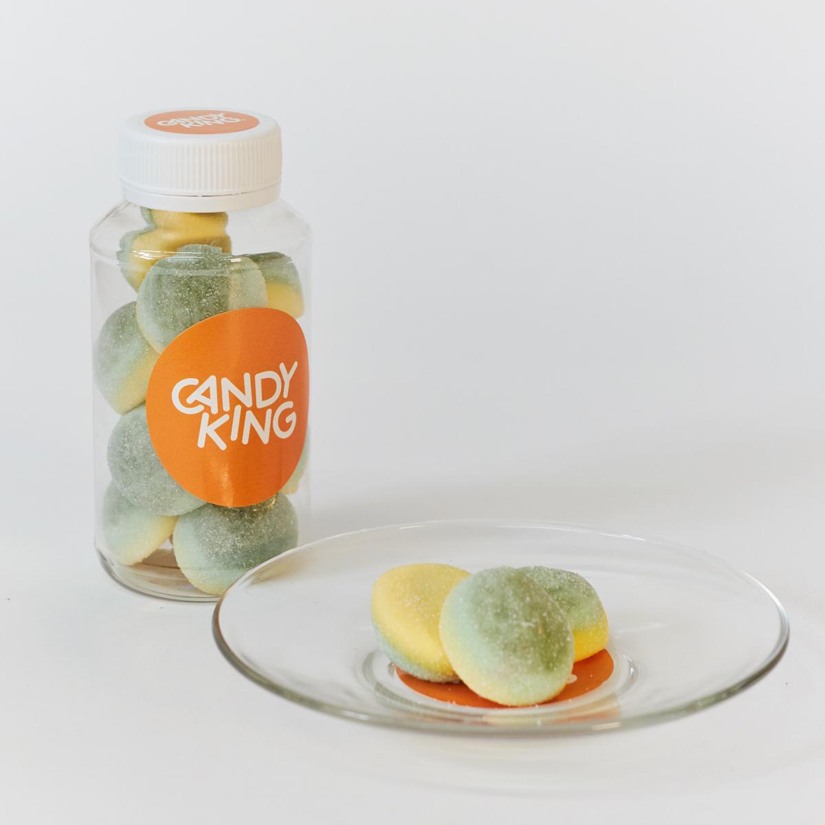Candy King Лимонные бомбочки Конфета желейная с фруктовым вкусом, 200 мл как клетки в игре бомбочки